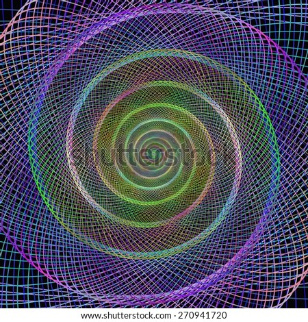 colorful spiral fractal from