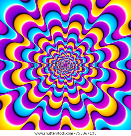 colorful spirals optical