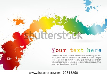 Colorful splash background with place for text