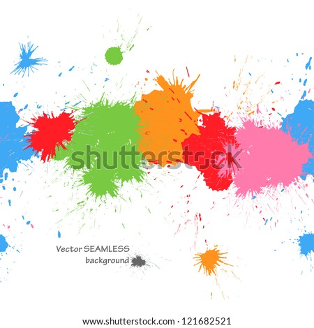 Colorful splashes seamless background