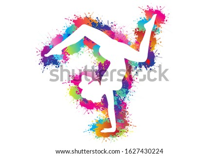 colorful sport background yoga