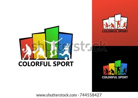 Colorful Sports Logo Template Design