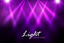 Colorful spotlight design. Vector illustration
