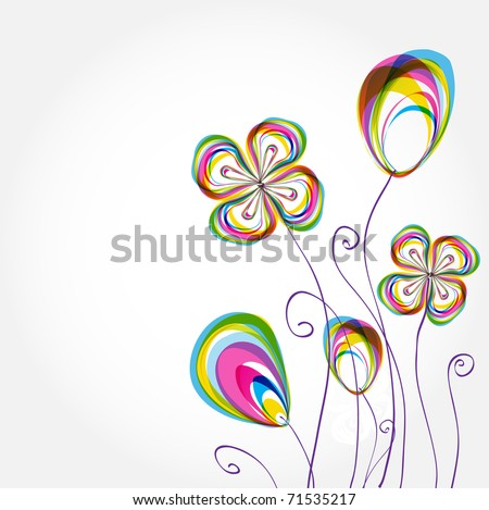 colorful spring floral