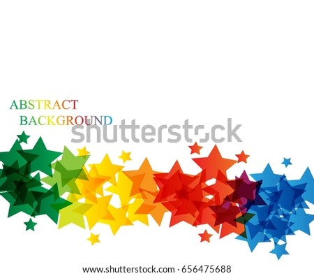 colorful star background