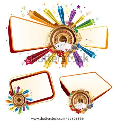 colorful star,casino design elements