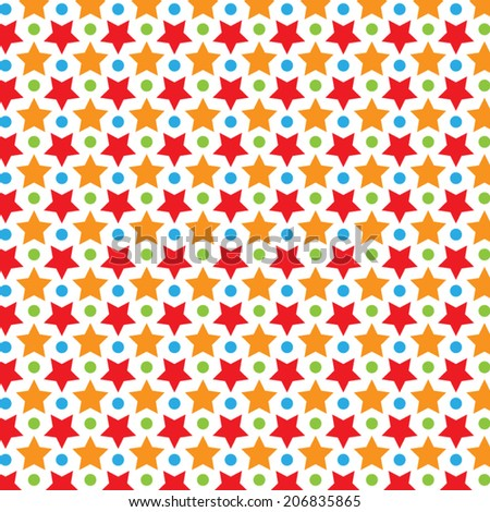 Colorful Star Vector Pattern