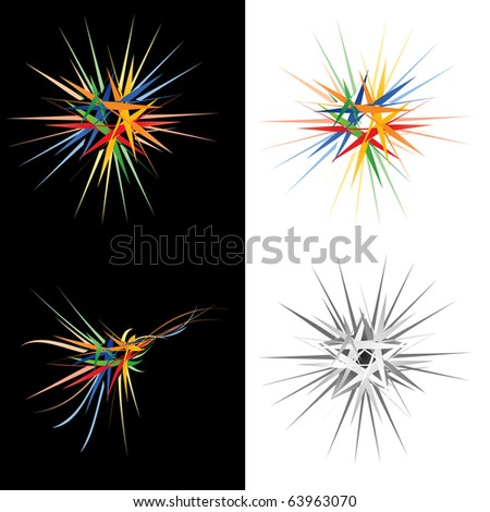 Colorful stars,abstract design element. Vector illustration - stock vector