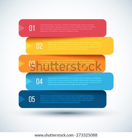 Colorful Step by Step design. Vector Illustration.