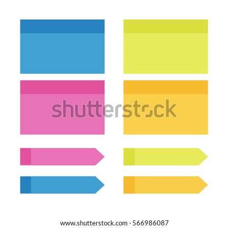 colorful sticky notes isolated