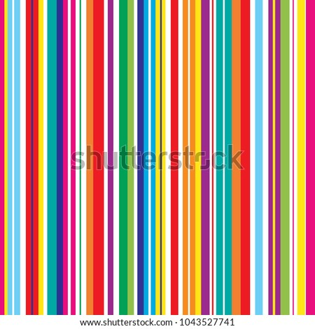 Colorful stripes seamless bright pattern. Stylish striped vector background. Abstract retro stereo effect with multicolor stripes.