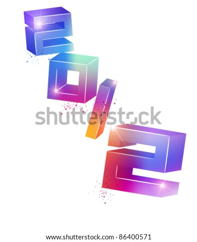 colorful stylish 2012 vector design