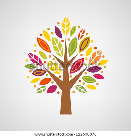 colorful stylized tree