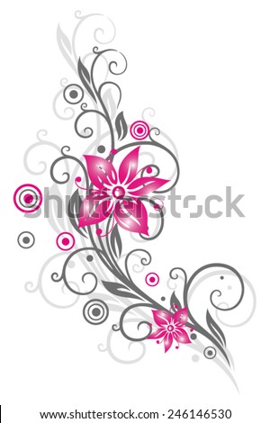 colorful summer flowers in pink