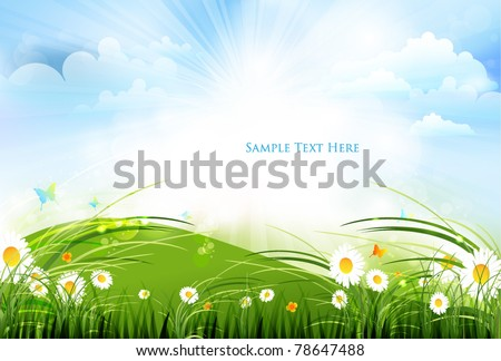 colorful summer scene design