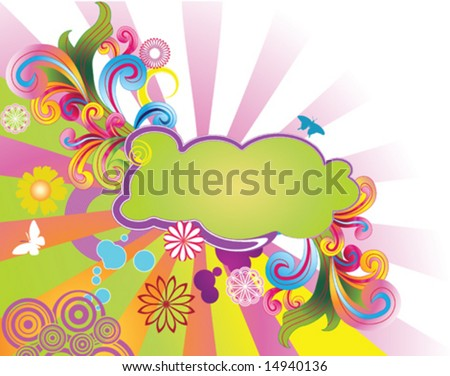 Colorful Summery Vector Background