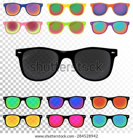 colorful sunglasses set