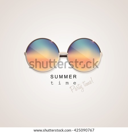 colorful sunglasses with