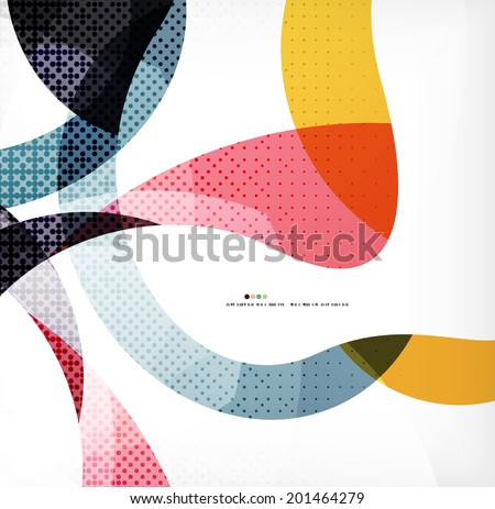 colorful swirl wave lines