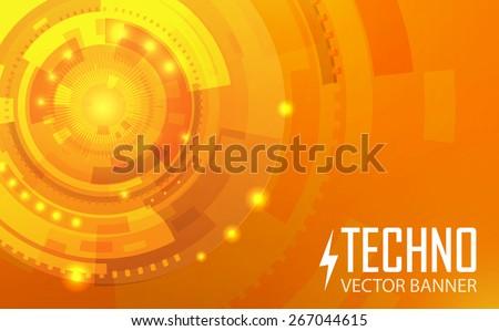 colorful techno vector