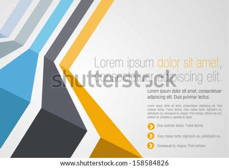 Colorful template for advertising brochure #158584826