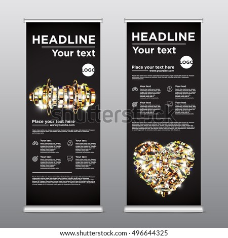 Colorful template for rollup design, vector illustration #496644325