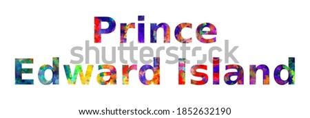 colorful text of word prince