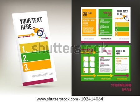 colorful three fold brochure template