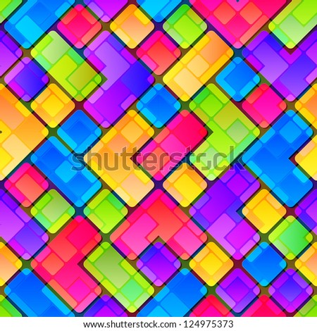 Colorful tile fragment seamless background pattern, eps10 vector