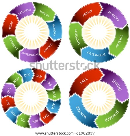Colorful Time Wheel