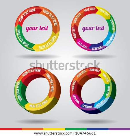 Colorful Time Wheel vector