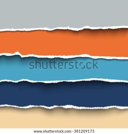 colorful torn paper vector for