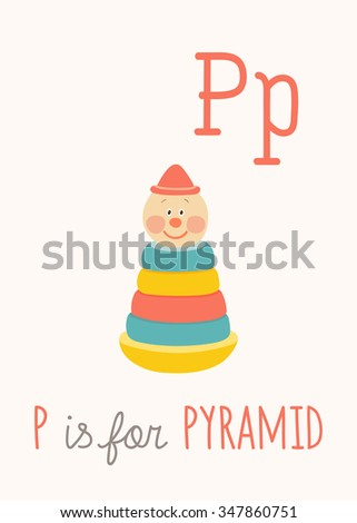 colorful toy pyramid with clown