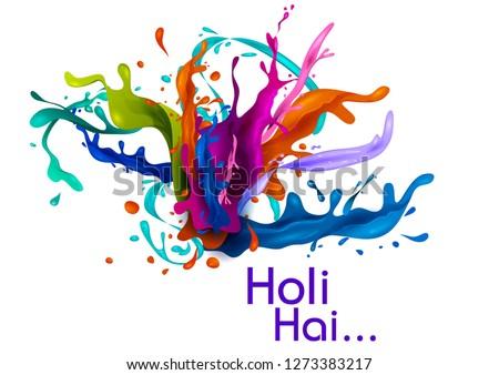 colorful traditional holi