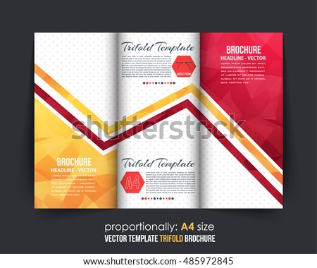 Colorful Fold Brochure Vector Template Download Free Vector Art