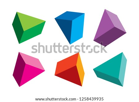 colorful triangles from different angles