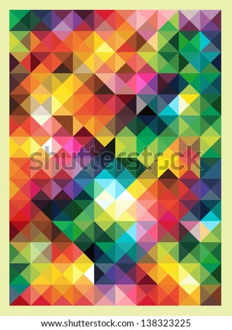 colorful triangles modern