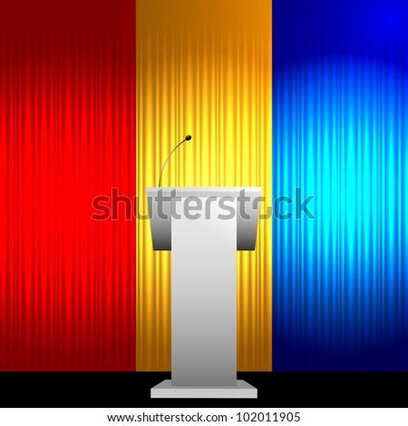 Colorful tribune vector background - stock vector