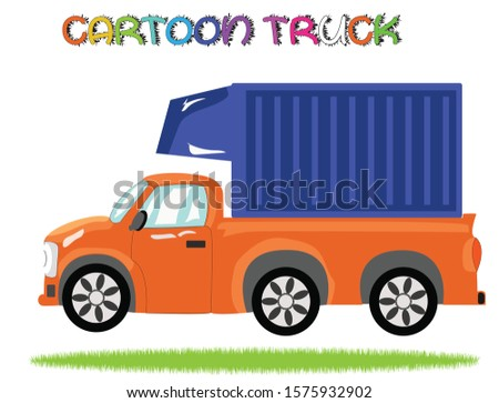 colorful truck vehicles set with white background best for 2d game assets cartoon truck and cars illustration colorful modern car with white background best for 2d game assets