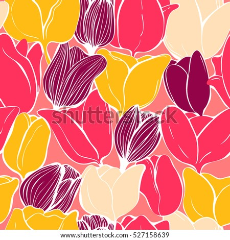 colorful tulips illustration