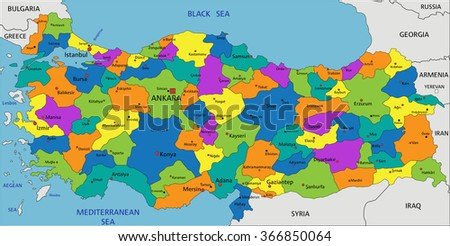 Free vector map of syria free vector art at vecteezy colorful turkey political map with clearly labeled separated layers vector illustration map of syria gumiabroncs Gallery