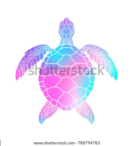 Stock Photo Colorful turtle. Vector illustration