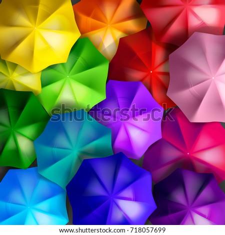 colorful umbrellas as interior
