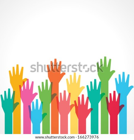 colorful up hand background  ...