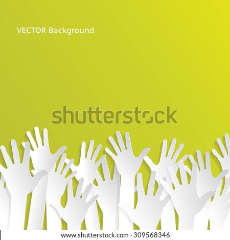 colorful up hands vector