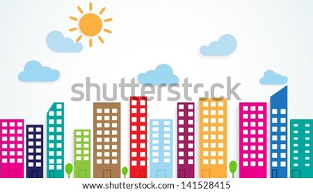 colorful urban scene