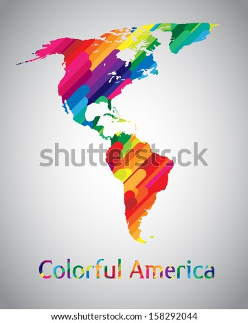 colorful vector america