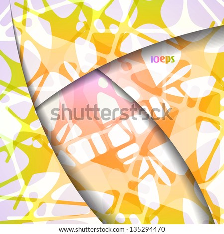 Colorful vector background, abstract style illustration eps10