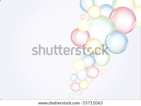 Colorful vector background with bubbles
