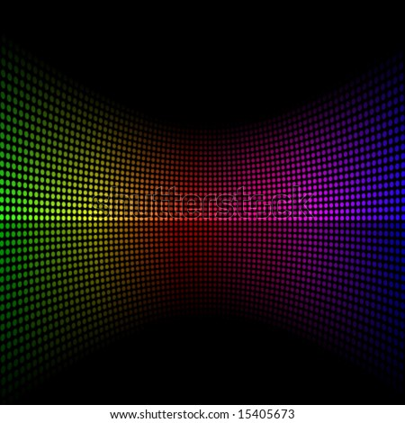 Colorful vector background with spectrum dots